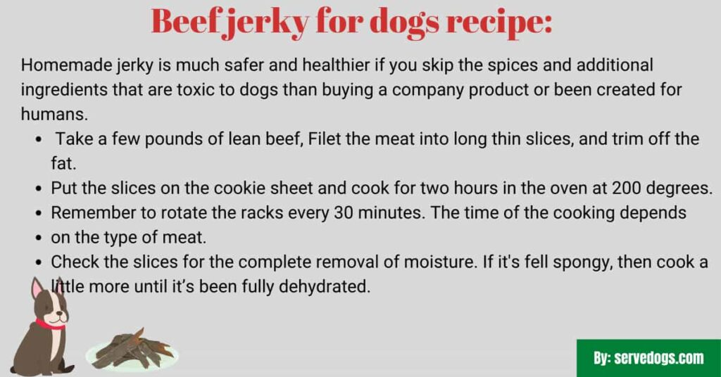 Beef jerky for dogs recipe