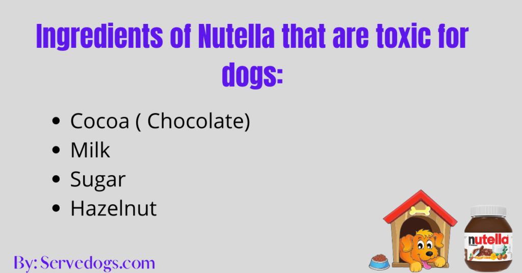 Ingredients of Nutella that are toxic for dogs
