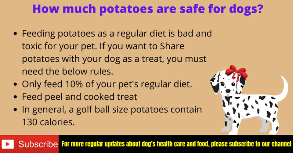How much potatoes for dogs