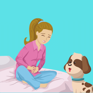 Can dogs smell a woman's period?