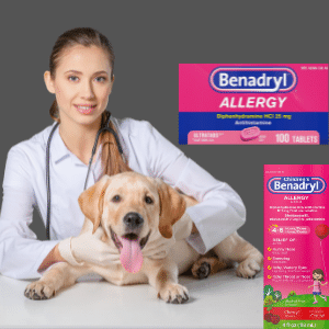 How much Benadryl can I give my dog chart